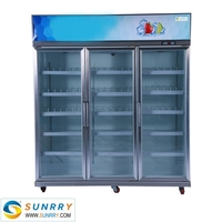 Commercial supermarket showcase freezer for fruit and vegetable display