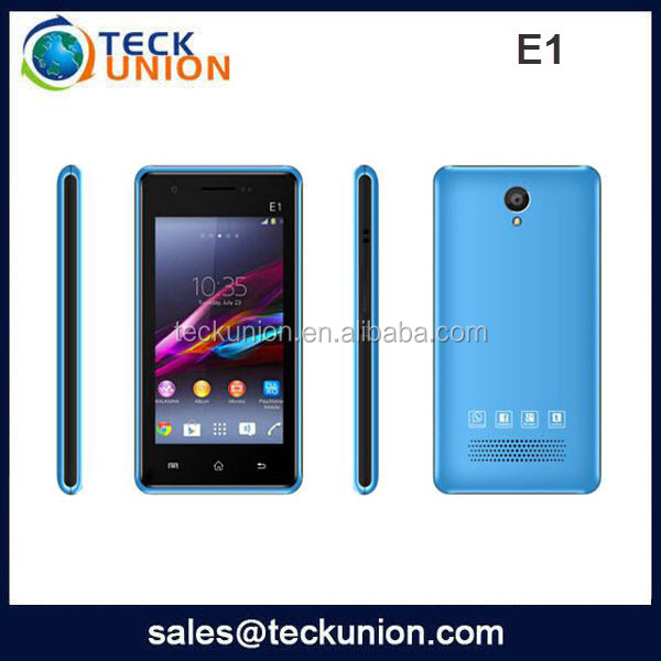 E1 4inch Capacitive screen phone mobile download games for mobile touch screen techno phone