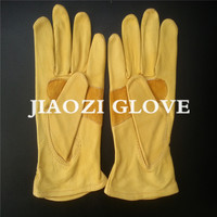 cheap customized ladies cow skin leather glove with touch screen finger