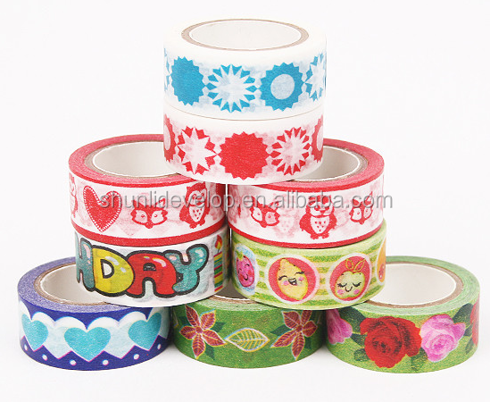 Adhesive Decorative Paper Tape, Custom Printed Masking Tape Made with Japanese Washi Material