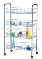 Four layer shoe rack with plastic feet