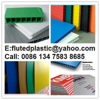 2mm-12mm corrugated plastic sheet coroplast