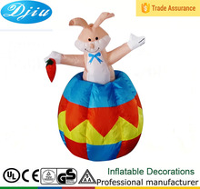 DJ-173 up and down moving inflatable rubbit Easter decorations home decor