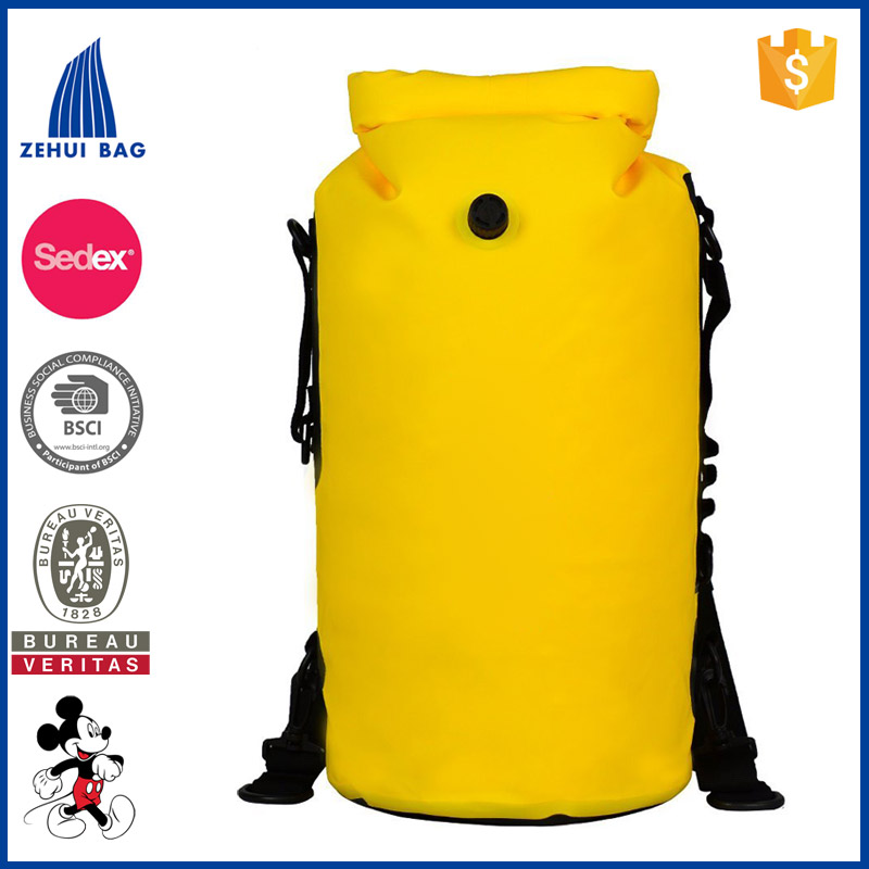 Inflatable Backpack Bag Plastic Drawstring backpack bag Qualified Roll Top Waterproof Bag Backpack