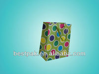 decorative colorful dots christmas gift paper bag
