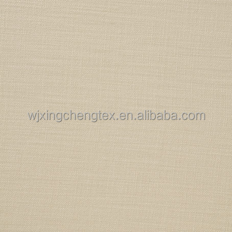 UK Polyester Curtain Plain Light Cream Fabric/Mini Matt Cream Fabric For Curtain