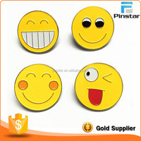 Die Casting Cheap Custom Made Enamel Smile Face Lapel Pin Brooches