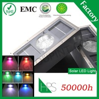 5 color options IP68 led solar brick light