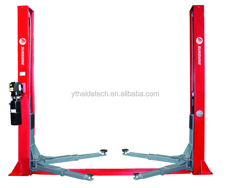 sunshine hydraulic 2 post car lift ,manual release hoist