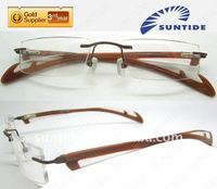 2013 Latest Naturally Rimless Eyeglass Frames With Rubber Tips