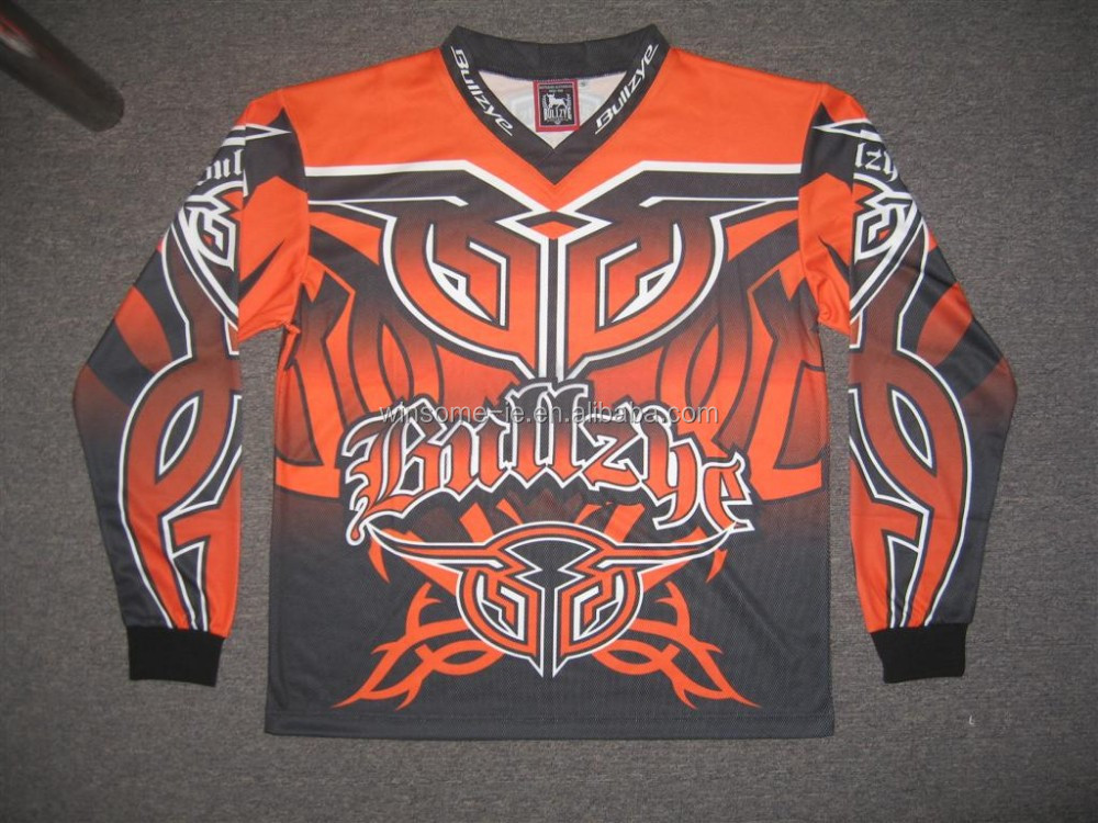 Professional fully customized 100% Polyester Wicking Yarn Sublimation printed Motorbike Jersey for Teams