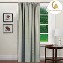 china factory middle line is black 3pass blackout curtain/window curtain for living room