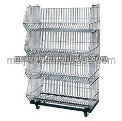 Multi-layer Storage basket four wheels moveable