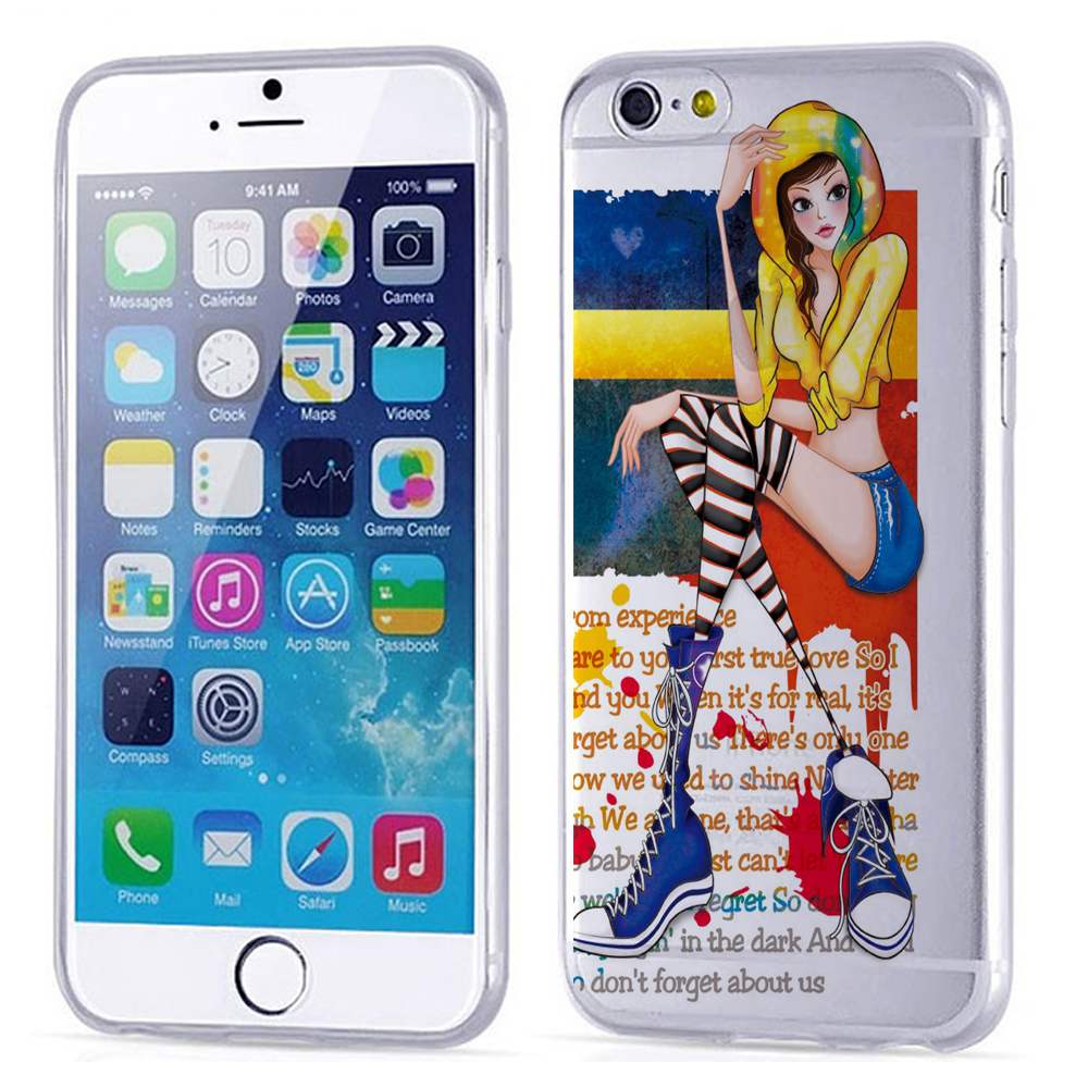 Brand Phone Case for iphone6,light weight plastic cell phone case, silicon phone case machine