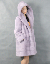 OEM Sevice Natural Mink Fur Coat Genuine Real Mink Fur Coats Natural Color