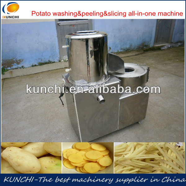 Combined multifunctional potato peeling and cutting machine with best price