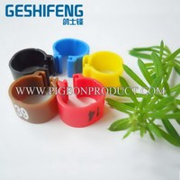 Plastic racing pigeon band with number put on for best selling the plastic clip ring for bird