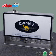acrylic counter cigarette display rack with 9 channels dispenser