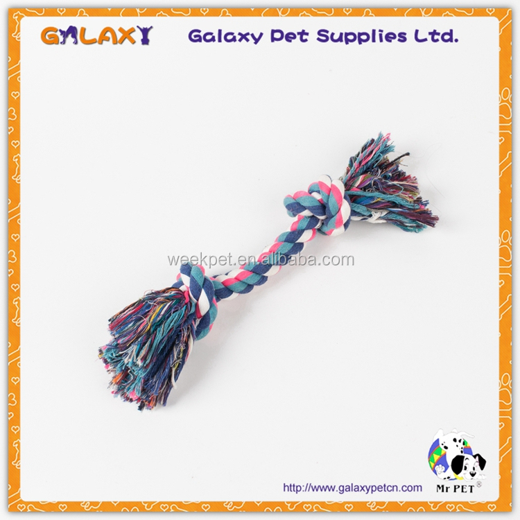 FR 30208 Custom Colorful Knot Cotton Rope Pet Toys For Dogs Tug Training Interactive Chewing Puppie Toys Dog Rope Toys