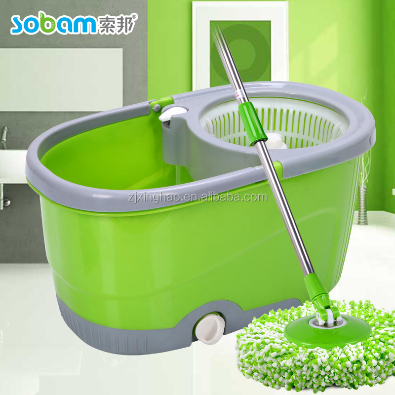 Promotional Gift 360 mop,6L magic spin mop bucket metal pole