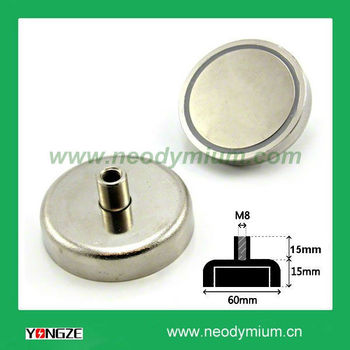Strong Pull Force Internal Threaded Pot Magnet