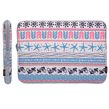 Bold Strip Pattern Protective Neoprene Laptop Sleeve Case Bag for Macbook 12