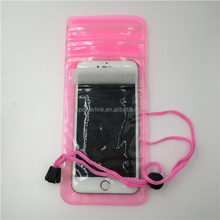 Custom Logo Blue /Pink/Black /Yellow/Green Outdoor Travel Pvc Waterproof Bag For Mobile Phone/ID
