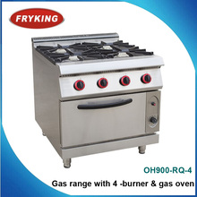 Gas range with 4 burner & gas oven