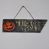 Halloween foam pumpkin face outdoor hanging sign