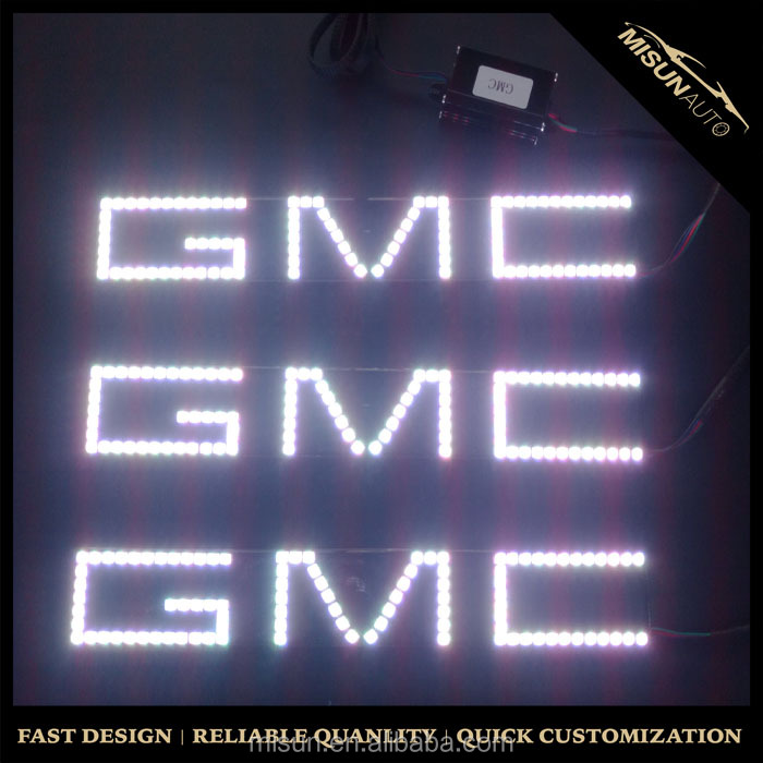 Waterproof IP65 GMC logo RGB color angel eyes 293mm square led halo rings for GMC
