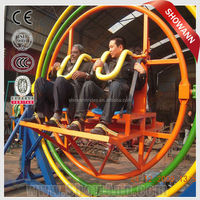 thrill rides 2/4/6 seats gyro ball ride face to face style human gyroscope space ball for sale