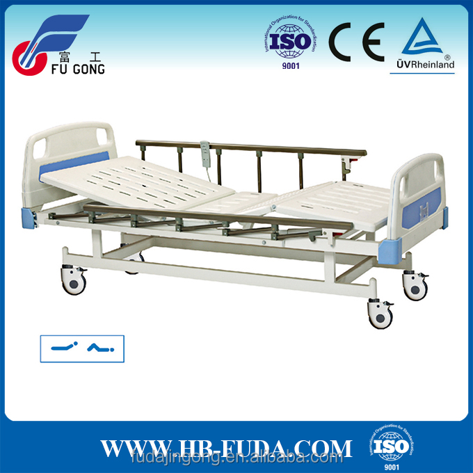 2017 hot product 6-bar aluminum side rail 2 adjustment electric bed for hospital