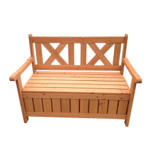 Outdoor Garden Wooden Storage Bench