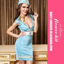 Wholesale Hot Sale Halloween Sexy Classic Flight Attendant Costume