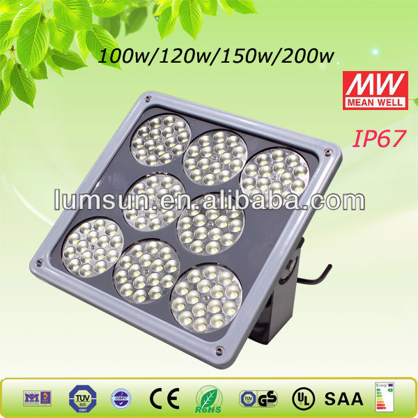 150w led gas station canopy lights explosion proof led light ATEX certified