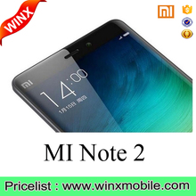 "5.7"" Xiao mi Mi Note 2 Edge mobile phone Snapdragon 821 Fingerprint phones"