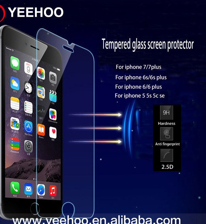 9H Tempered Glass Screen Protector For iPhone 7, Screen Protector For iPhone 7 Tempered Glass, 2.5D Curve Glass for mobile phone