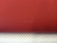 DE90 HOLE PU LEATHER WENZHOU perforation SYNTHETIC leather FACTORY for car seat cover, high quality easy cleaning SOFA FABRICS