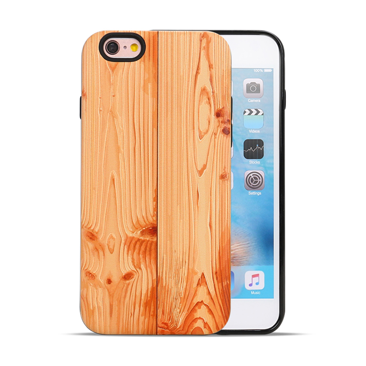 Retro Style Wood Wooden Pattern Durable Protective Phone Case for iPhone 6 6S