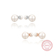 Silver Woman Original Earring Double Pearl Silver Ear Piercing Fancy Earrings