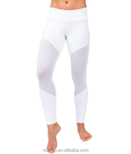 Running Workout Fitness White yoga pants gym tights leggings with back pockets