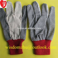 Canvas Gloves Petroleum Gloves with PVC dots from Linyi