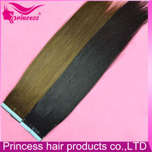 2016 new wholesale price brazilian remy tape hair extension