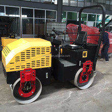 1 ton 2 ton mini ride on static double drum asphalt road roller for sale