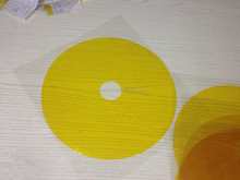 High Temperature Amber PI Polyimide Die Cut Discs electric capacity tape