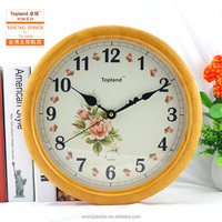Flower dial modern clock wholesale wall clock home decoration cheap price