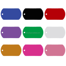 Pet Accessories Anodized Aluminum ID Tags Pet Tags for engraving pet name or Custom Logo