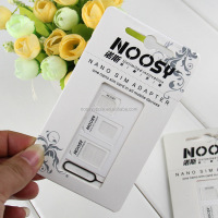 Eco-friendly Nano SIM Card to Micro Standard Adapter Converter Set For Cellphones