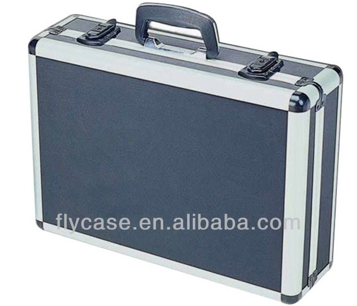 Business aluminum carrying case + ABS board heavy-duty aluminum tool case
