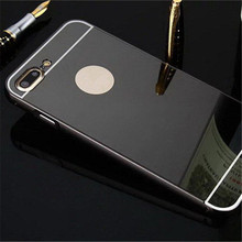 JESOY For iPhone 6 7 8 Aluminum Mirror Metal Bumper Phone Cases with Acrylic Back Cover